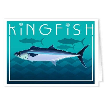 Kingfish Fishing Note Cards