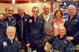 The U.S. Virgin Islands Paralympic Sailing Team and friends: (from left, standing) Tony Sanpere, Bob Blackwell, James Carney, John Foster, Jan Robinson, Dave Flaherty, Jim Kerr (sitting, left) and Walter Schenk (right). Photography by Captain Jan Robinson