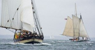 Mystic Whaler and Lady Maryland at Start of 2009 GCBSR. Credit: bobmadden.com