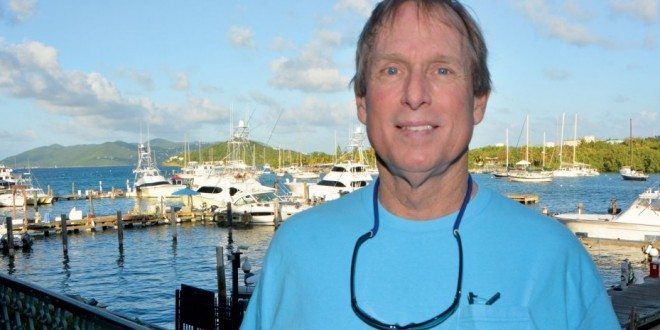Captain Albert Johnson at IGY's American Yacht Harbor Marina, in St. Thomas. Photo: Dean Barnes