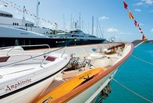 Boats in Falmouth Harbour during the Antigua Charter Yacht Show. Photo: Ted Martin