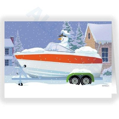 Snowman Captain - Speedboat