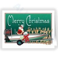 Merry Christmas Santa with a brand new Speedboat Card
