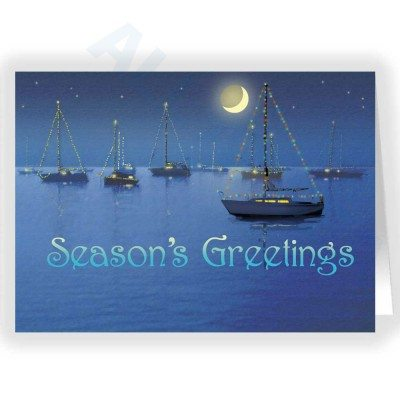 Seasonal Sailboats - Christmas Card