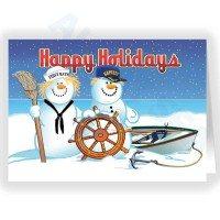 Snowman Nautical Christmas Card
