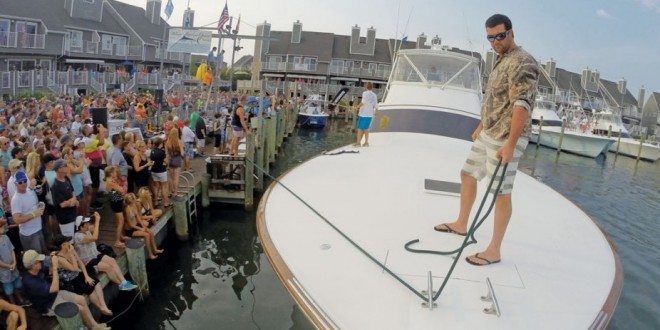 Harbour Island welcomes a sportfisher to the weigh station. Photos by Rock Doc Fishing Team