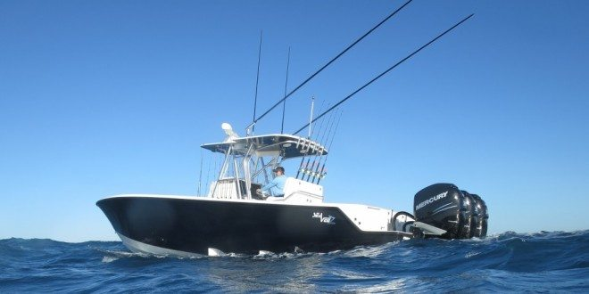 The third boat in the new Sea Vee Z performance line, the 340Z, makes its debut at the 2014 Fort Lauderdale Int'l Boat Show.