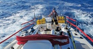 Barrie North at the helm of S/V Alchemy, this will be Barrie's first Caribbean 1500