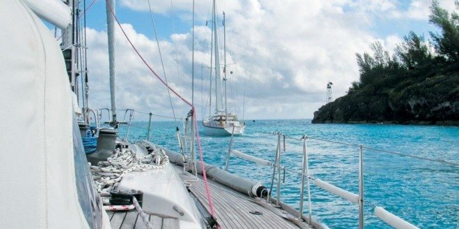 The Swan 48 Avocation leaves Town Cut, St. Georges, Bermuda at the start of the 2nd leg of the NARC Rally.