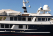 """NEW MARINA ARRIVAL is the Expedition Yacht """"Rosa"""". A Canadian build, the distinctive yacht measures 90 feet overall and carries a substantial inventory of """"toys"""". (Photo by Emerald Bay Marina)"""