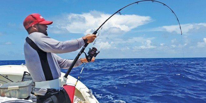 Eli Fuller jigging for tuna
