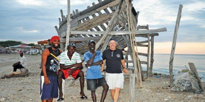 Samuel Michael (red hat) is the SSCA Cruising Station Host in La Gonave, Haiti. Photo:Orietta L'Abbate