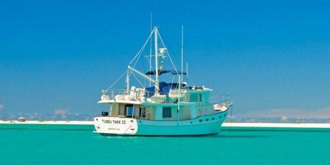 Chuck and Barbara Shipley's 48ft Kadey-Krogen North Sea Tusen Takk II photographed in La Tortuga, Venezuela