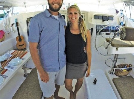 Louise and Stephen aboard Pisces