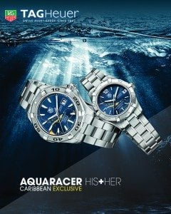 Prized Aquaracer Caribbean Limited Edition men's and women's watches.