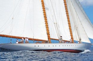 Steve McLaren's schooner Elena of London. Photo curtesy of Peter Marshall/MGRBR