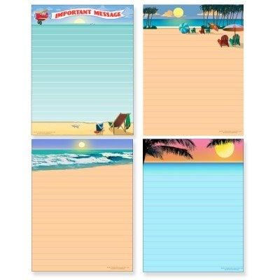 Beach and Sunset Notepad Assortment Pack