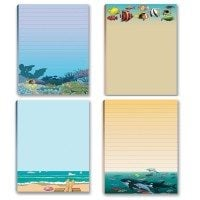 Ocean Reef and Beach Notepad Assortment