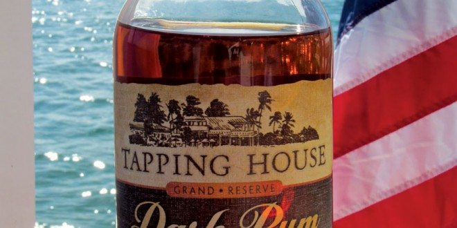 A bottle of Tapping House Rum