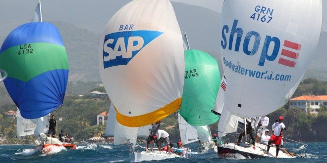 J/24s Racing at Grenada Sailing Week