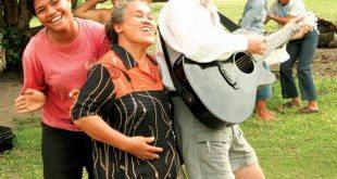Rock on! Fatty knocking 'em dead in Tonga …