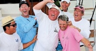 Top Boat Team Shoe celebrate at the Casa de Campo Blue Marlin Classic. Photo: Richard Gibson