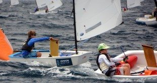 Left, St. Thomas' Teddy Nicolosi, who finished second overall, right behind the BVI's Rayne Duff, Right, overall winner of the 2014 International Optimist Regatta. Credit: Dean Barnes