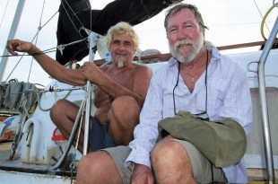 Fatty with Jurgen Kantner who was held for ransom in Somalia for several months with his wife, Sabina.