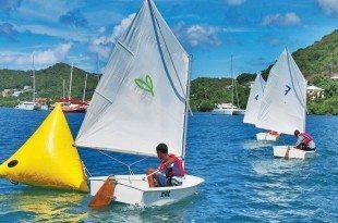 Junior Sailing Regatta at Clarke's Court Bay. Photo courtesy of Sarah Baker & Steve Brett