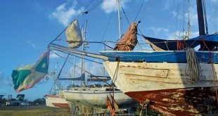 Mermaid ashore in Honduras where some planks were replaced