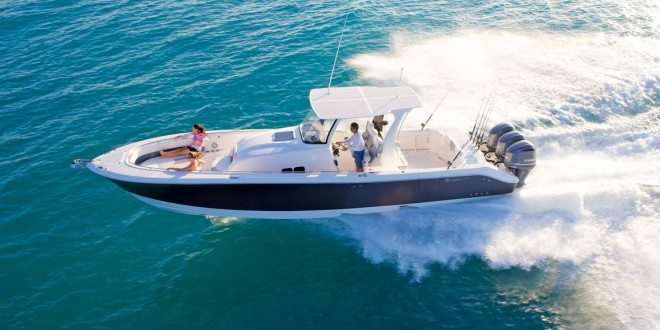 EdgeWater Boat's new flagship model the 368CC. Photo by Robert Holland, Big Fish Studios