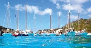 The largest gathering of West Indian sloops and schooners anywhere in the world! Photo: Kristin Bourne