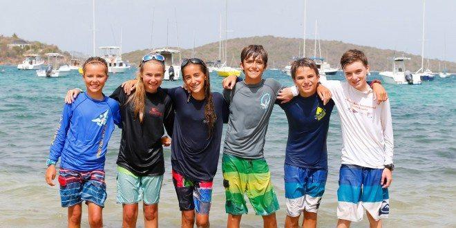 Team ISV 1 L to R: Mia Nicolosi, Victoria Flatley, Gillian Perrell, Teddy Nicolosi, Mateo Di Blasi and Julian van den Driessche. Credit: Matias Capizzano