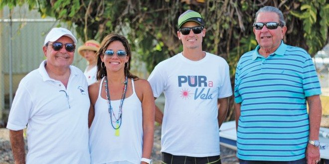 Club Nautico de San Juan Sailing Academy (from left): Commodore Alberto Gual Rexach, Bernardette San Antonio, Marco Teixidor (assistant director), and Mickey Tirado (member of the Club's Board of Directors). Photo: Carlos Lee