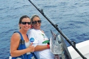 Battle fought and won – Katie (left) and friend Trish.