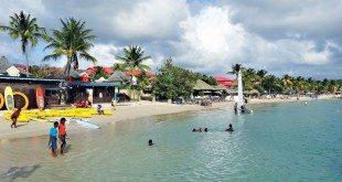 The beach at Rodney Bay