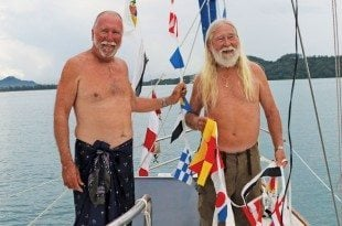 Fatty and Dave say it with flags