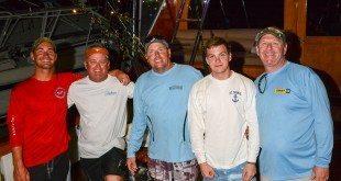 Top Boat, Team Pescador, L to R: Sharp Kemp, Kevin Haddox, Capt. Jay Fowler, John Deckoff, Stephen Deckoff. Credit: Dean Barnes