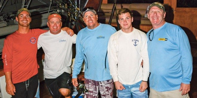Top Boat, Team Pescador (from left): Sharp Kemp, Kevin Haddox, Capt. Jay Fowler, and John and Stephen Deckoff