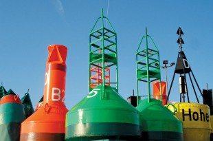 Cluster of buoys. Photo: Arne Hückelheim