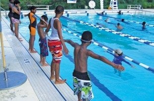 """Inspire Giving Through You"" by IGY Marinas:Repairs and maintenance to a community pool facility in St. Thomas is on the list of IGY projects. Photo courtesy of Jimmy Loveland"