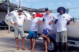 Team Wadadli: Atlantic Challenge Race,The men from Antigua (from left): Nick Fuller, Peter Smith, JD Hall and Archie Bailey