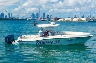 Captain Bouncer Makes Lifelong Smiles: Bouncer'sDusky 33. Captain Bouncer's pride and joy. Photo courtesy of Captain Bouncer Smith