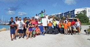 St. Maarten Regatta 4th Annual Beach Clean-Up: A clean Kim Sha beach and a job well done