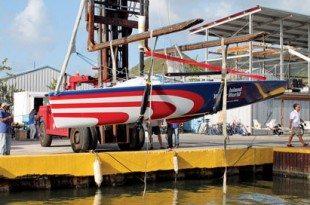 Team Island Water World launch their new Melges 24