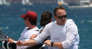 St. Croix native Tim Pitts, and crew, win the VX One Class at the St. Thomas International Regatta. Credit: Dean Barnes