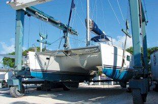 Hauling Out Catamarans South Florida: Courtesy of Catamaran Boatyard