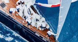 Loro Piana Superyacht Regatta: The crew of Class A winner Nilaya work the spinnaker