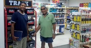 Budget Marine Trinidad Tobago : Customers look around Budget Marine's new outlet at the Trinidad & Tobago Yacht Club
