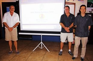 Offshore Racing Congress St. Maarten : ORC presentation at the Sint Maarten Yacht Club, from left: Paul Miller, Zoran Grubisa and Dobbs Davis. Photo: OceaMedia